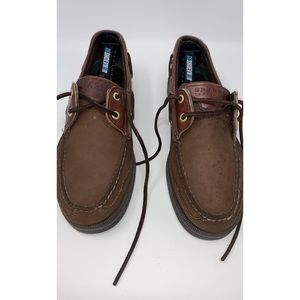 Sperry Topsiders Brown Leather Loafers